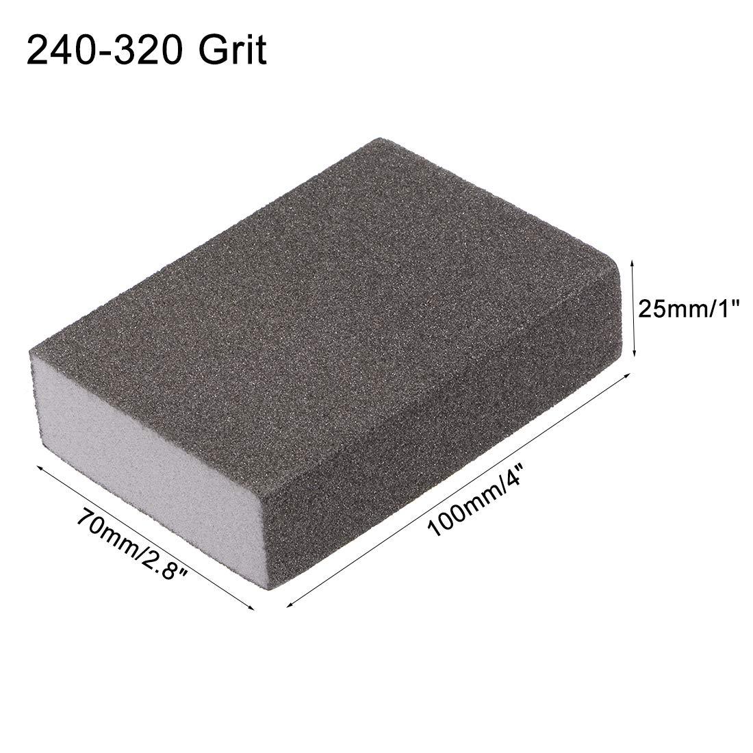 99mm x 70mm x 25mm uxcell Sanding Sponge Block 400-600 Grit