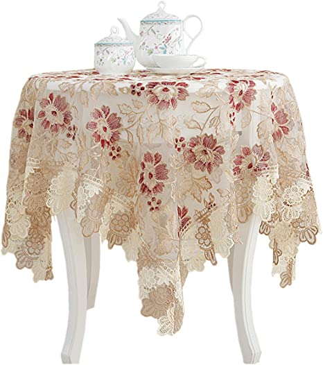 Romantic Tablecloth Lace Embroidered Bedside Table Cover Cloth Home Decor CO