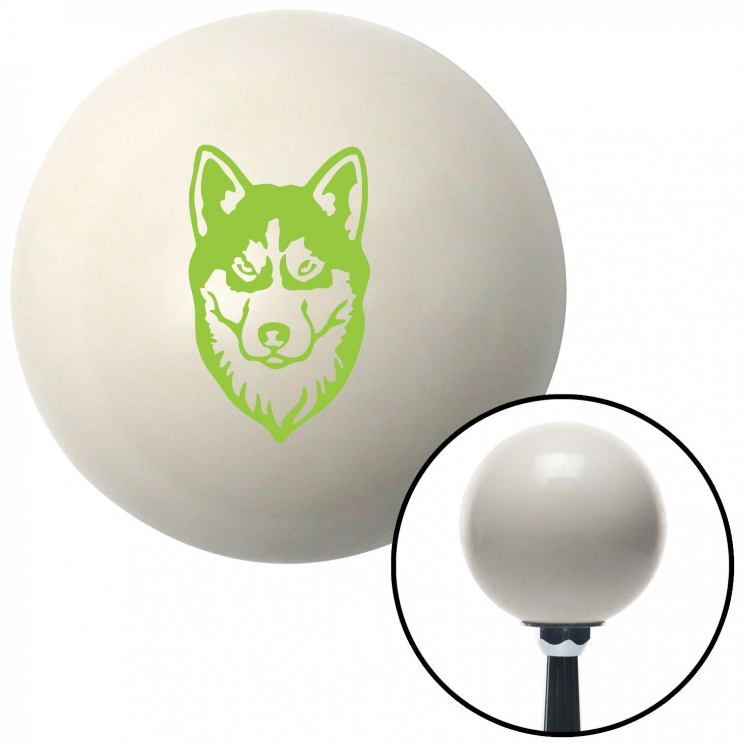 American Shifter 41131 Ivory Shift Knob with 16mm x 1.5 Insert Green Husky