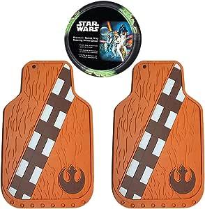 Amazon Inc Star Wars Chewbacca Front Rubber Floor Mats Yoda Steering Wheel Cover