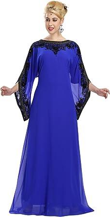 Amazon Com Robe Dubai Evening Wear Farasha Caftan Dress By Maxim Creation 5880 Clothing