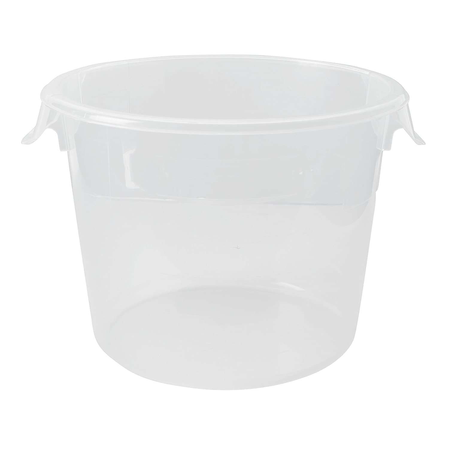 Rubbermaid Commercial Products FG572324CLR Food Storage Container, Round, Polyethylene, 6 Quart, Clear (Pack of 12)