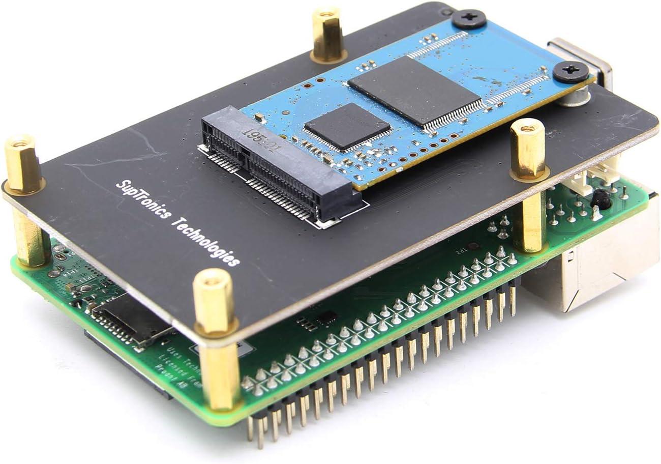 Raspberry Pi 4 Model B X857 mSATA SSD Expansion Board USB3.0 Module for Raspberry Pi 4B Geekworm Raspberry Pi 4 mSATA SSD Adapter X857