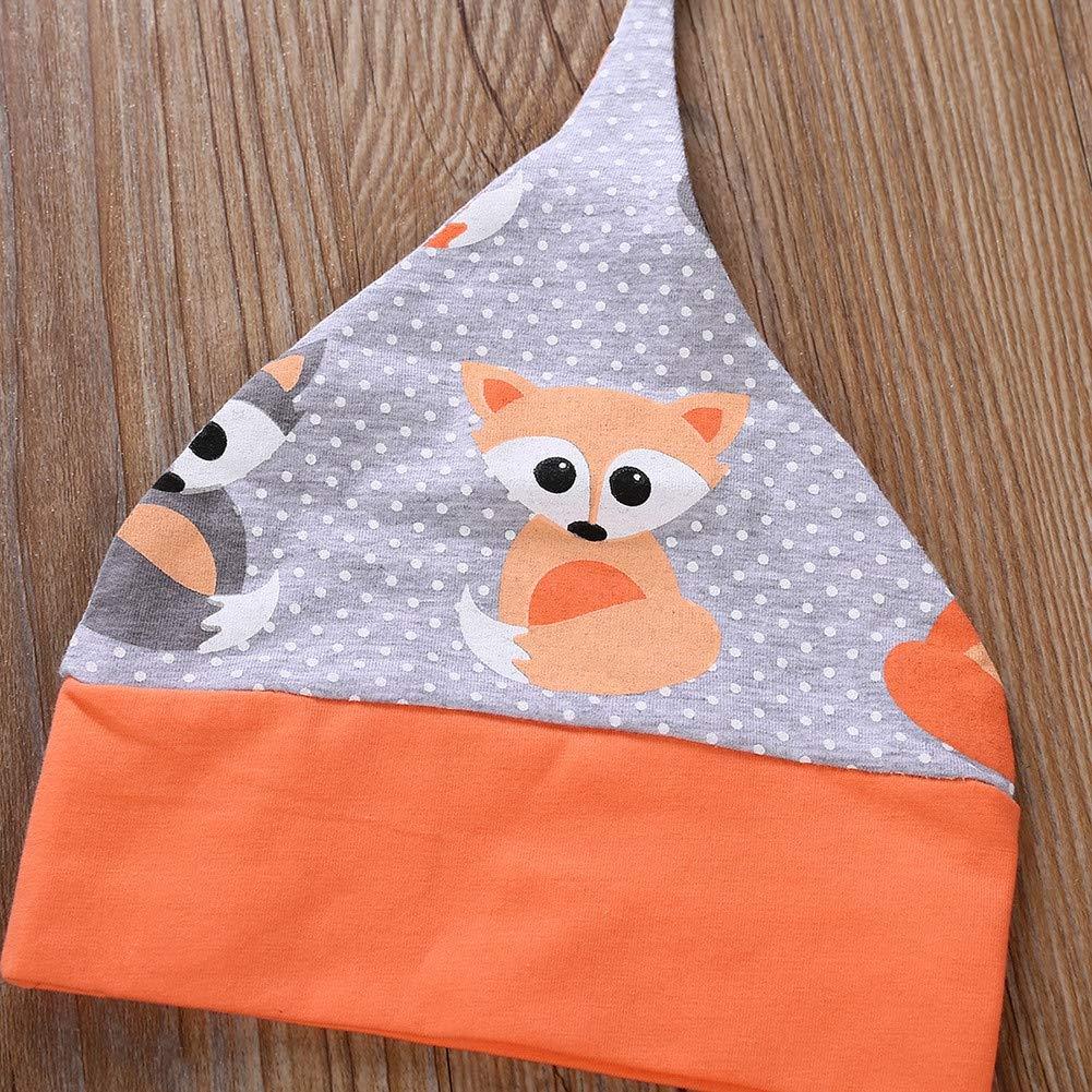 Baby M/ädchen Layette Set Fox Langarm Strampler und Hose und Stirnband und Hut 4 St/ück Kleidung Set