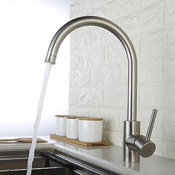 Homelody Wasserhahn Küche 360° drehbar Küchenarmatur mit Brause ...