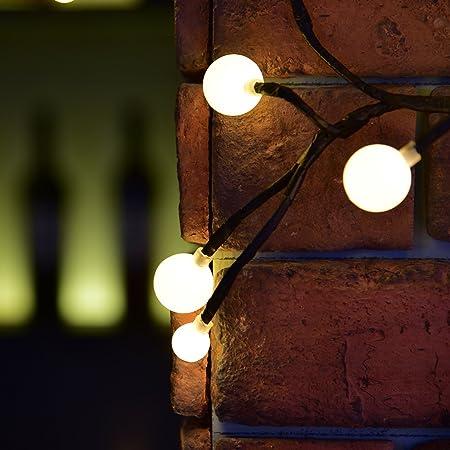 Guirnalda Luces Interior Avoalre® Luz Guirnalda Led Guirnalda Luces Exterior Decoracion Navidad, Festivales, Bodas, Cobertizos, Patios, Jardines, Pérgolas - Blanco Chaud: Amazon.es: Hogar