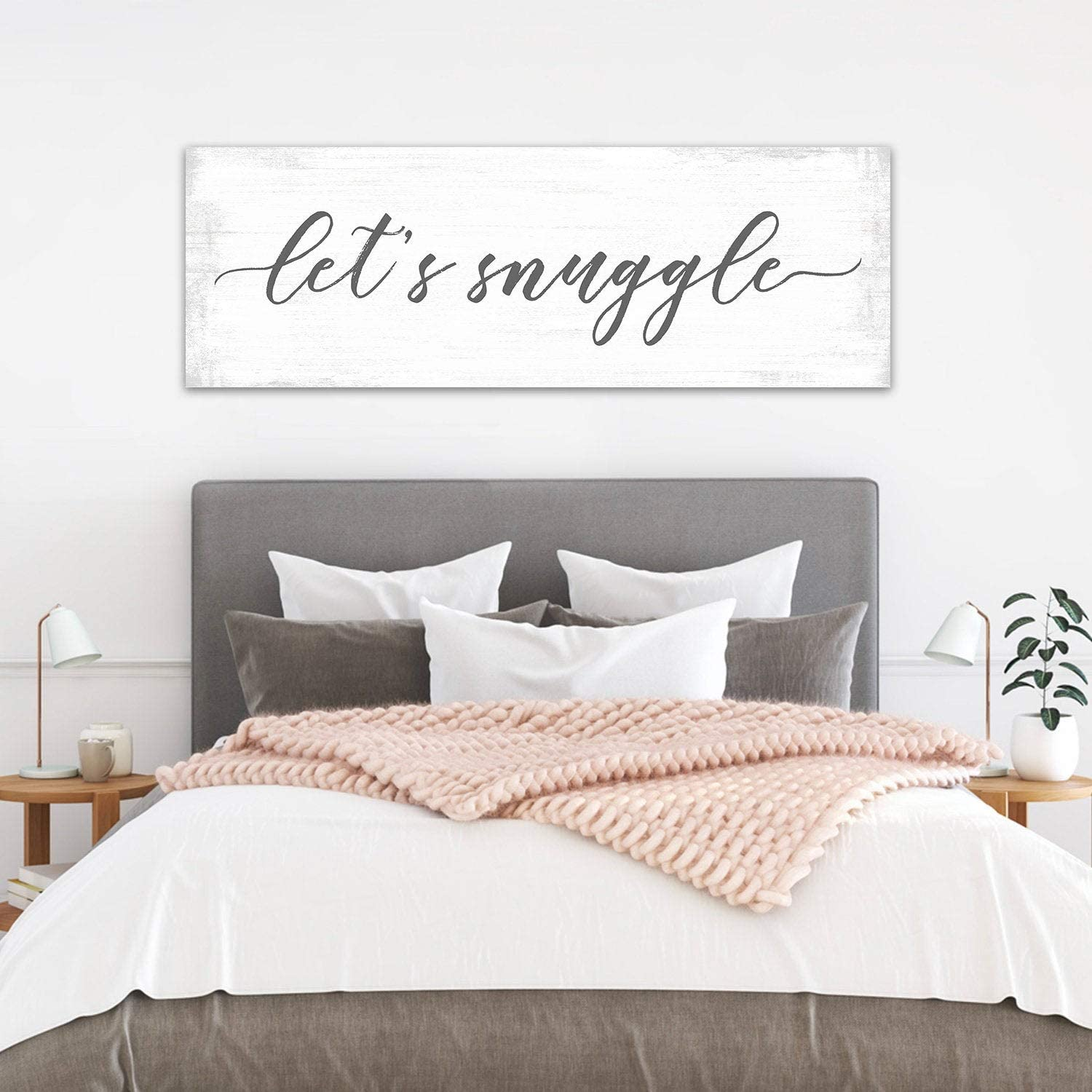 Waaa Lets Snuggle Sign Lets Snuggle Snuggle Sign Couples Bedroom Frame Art Above The Bed Wall Decor Large Over The Bed Print