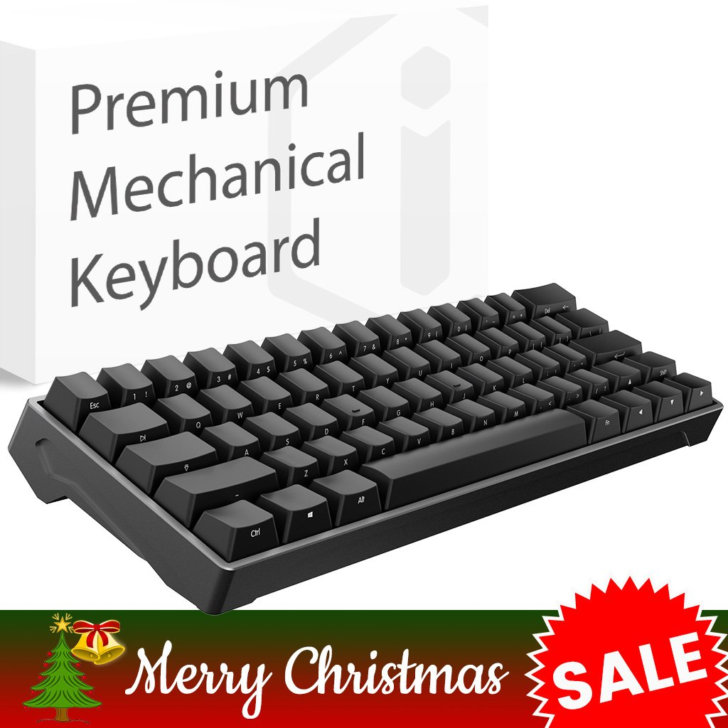 iQunix Lambo 62 Black Body with Black Keycaps Mechanical Keyboard, for  Programming, Designing, Gaming, works with Mac OS and Windows, includes  your