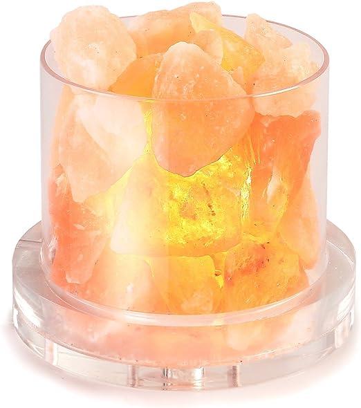 Amazon.com: Genuino vidrio lámpara de sal del Himalaya ...