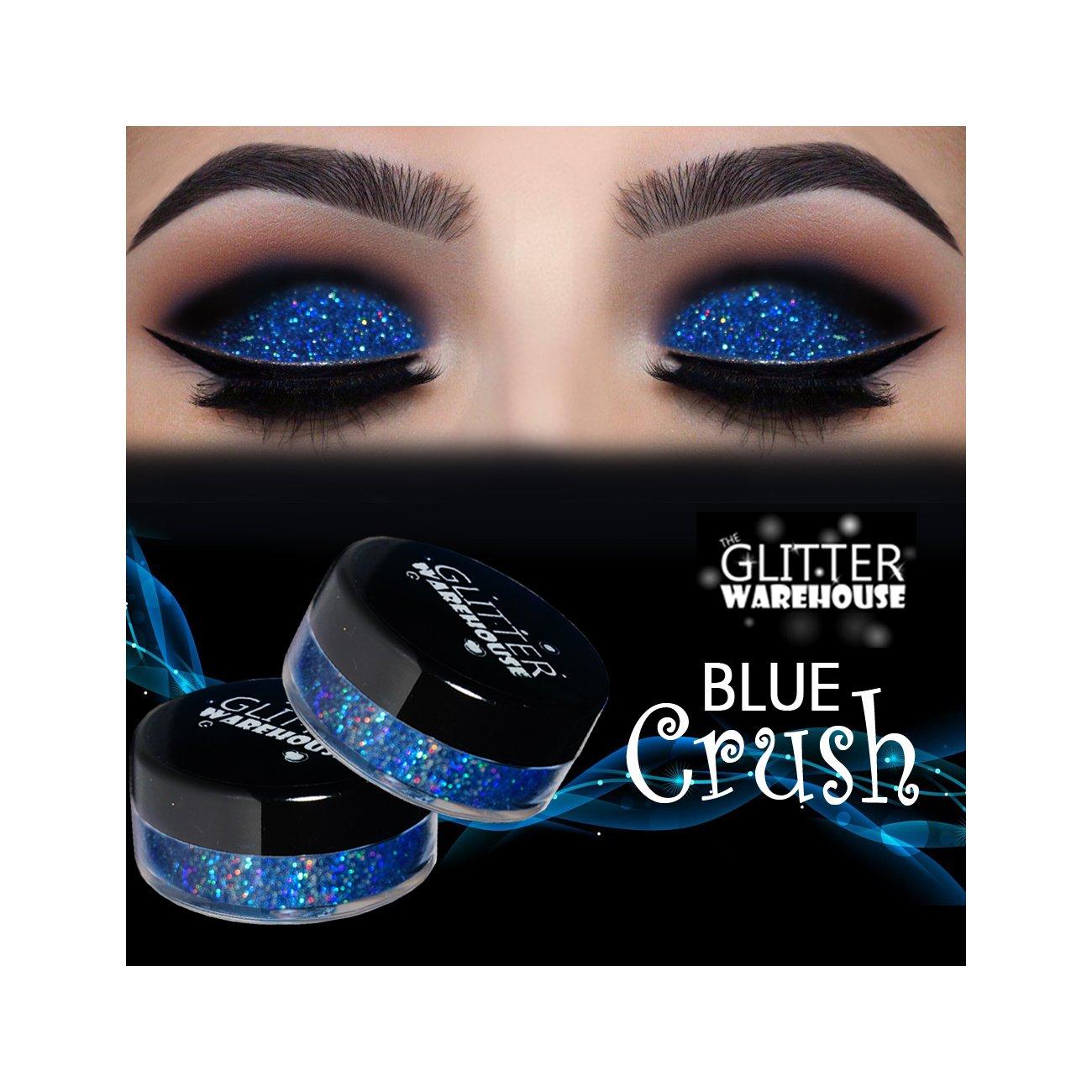 GlitterWarehouse Blue Crush Holographic Loose Glitter Powder for Eyeshadow, Makeup, Nail Art, Body Tattoo
