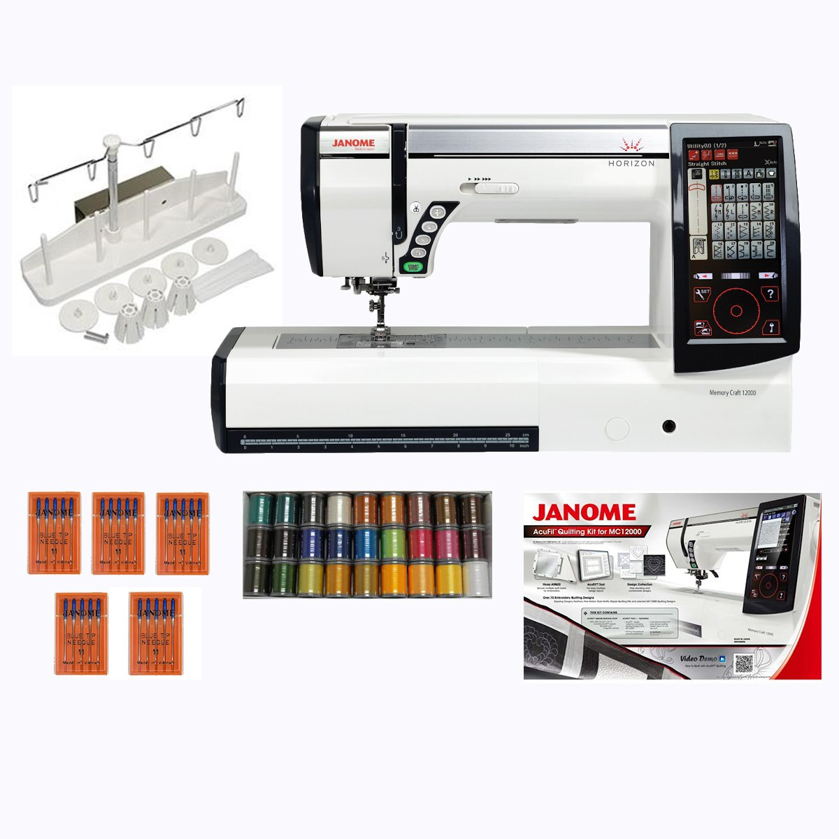 Janome memory craft 12000 - Amazon Com Janome Horizon Memory 12000 Embroidery With Sewing Machine And Accessories