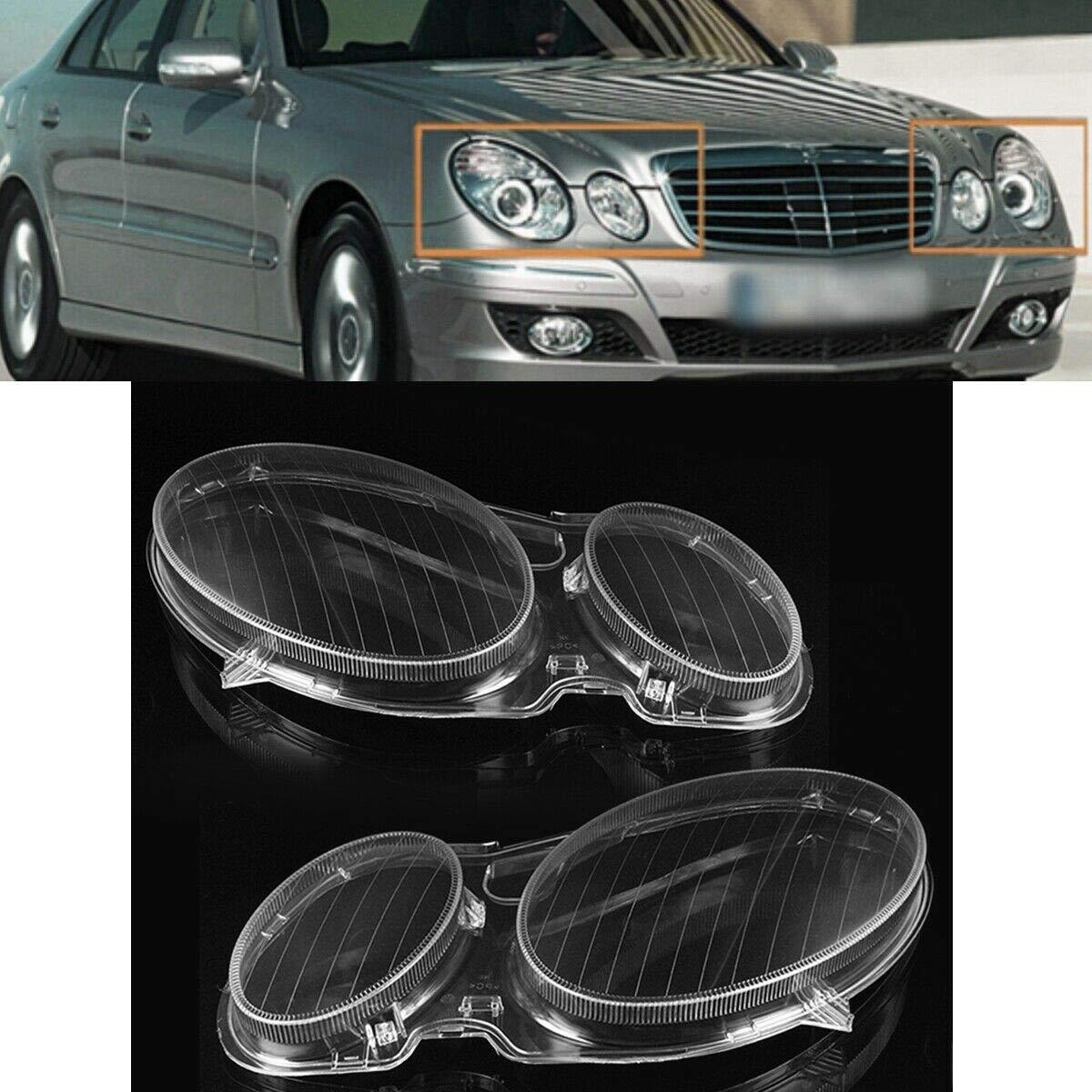 TOOGOO Pare-Soleil Transparent pour Phare de Voiture pour Mercedes W211 E350 320 200 2002-2008 /à Gauche L