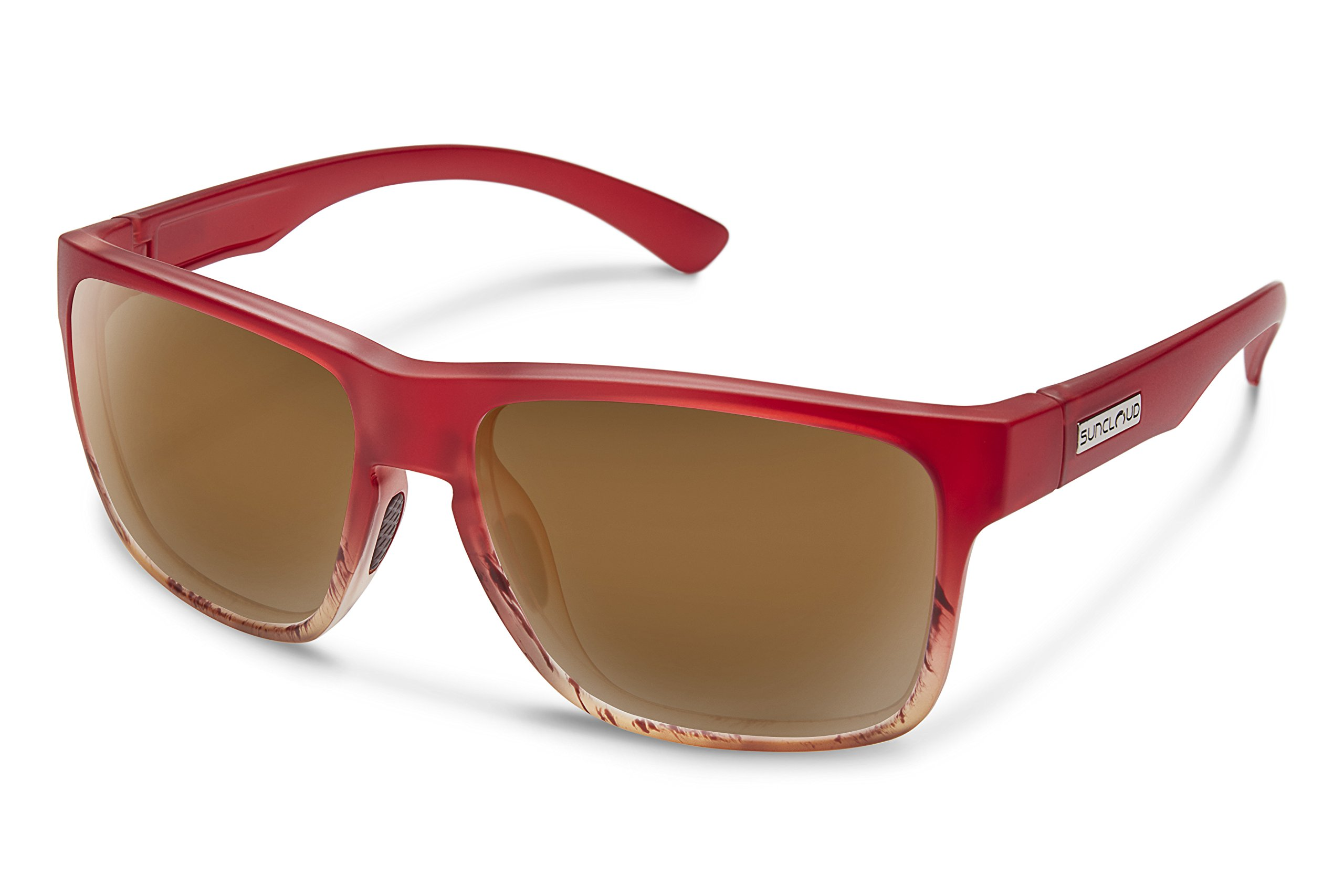 Suncloud Rambler Sunglasses, Red Tortoise Fade Frame/Brown Polycarbonate Lens, One Size