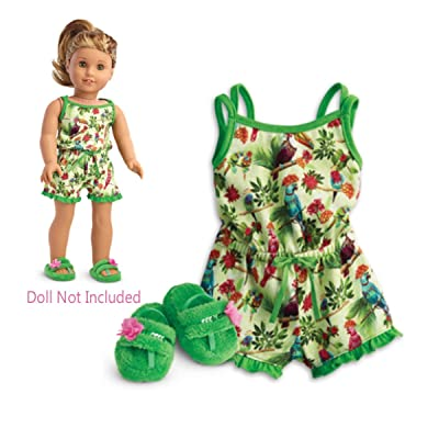 "American Girl Lea's Rainforest Dreams Pajamas for 18"" Dolls 2016: Toys & Games"