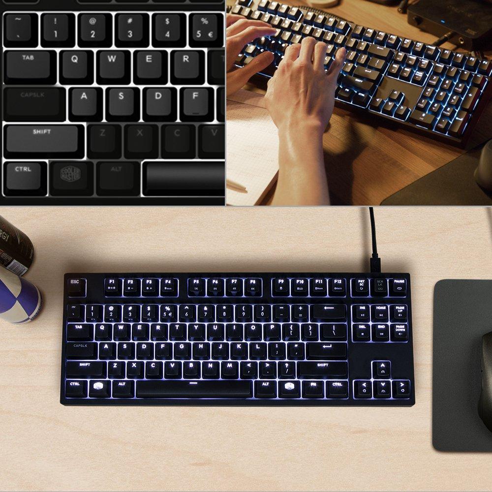 209c95570ac Amazon.com: Cooler Master MasterKeys Pro S White LED Mechanical Gaming  Keyboard, Cherry MX Brown, TenKeyless (Small): Computers & Accessories