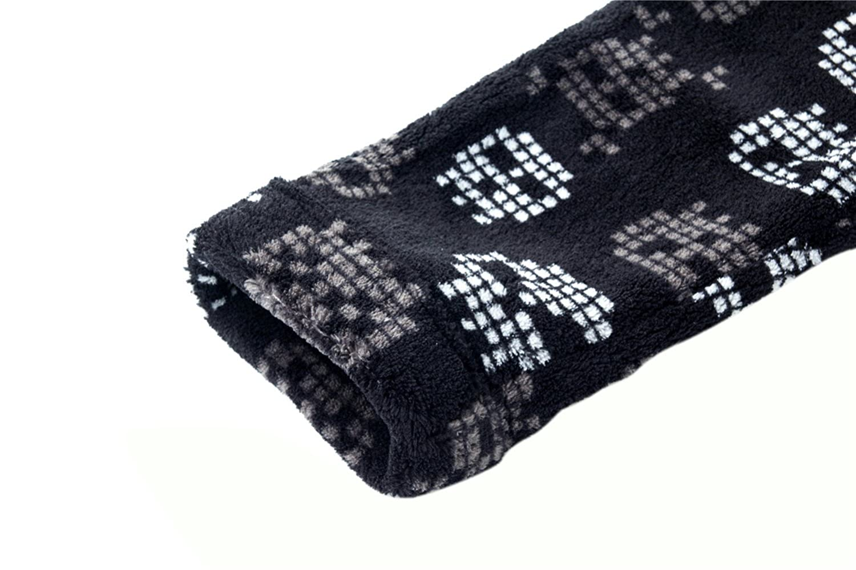 Homeswee Boys Plush Fleece Robe Shawl Skull Printed Bath Robe Soft Bathrobe for Boy