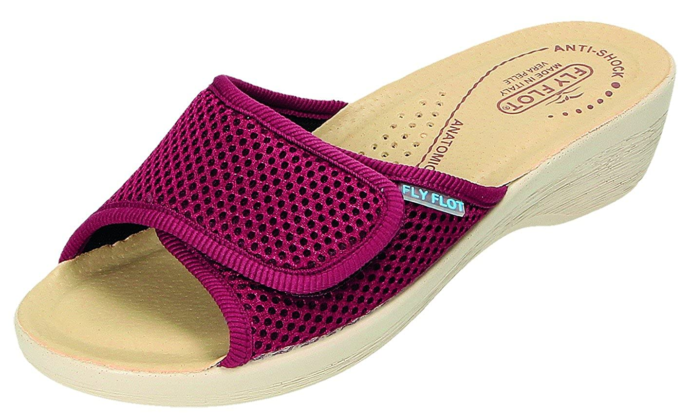 2d21f4f37c45 Fly Flot Women s Slippers Red Bordeaux Red Red Size  8 UK  Amazon.co.uk   Shoes   Bags