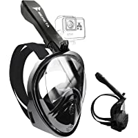 BENETA Snorkel Mask Full Face Snorkel Mask 180° Panoramic Views Snorkeling Mask with Detachable Camera Mount…