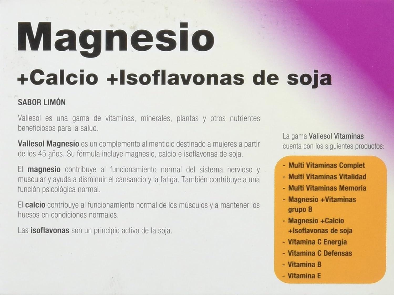 VALLESOL MG+CA+ISOFLAVONAS 24 C MASTICAB: Amazon.es: Salud y cuidado personal
