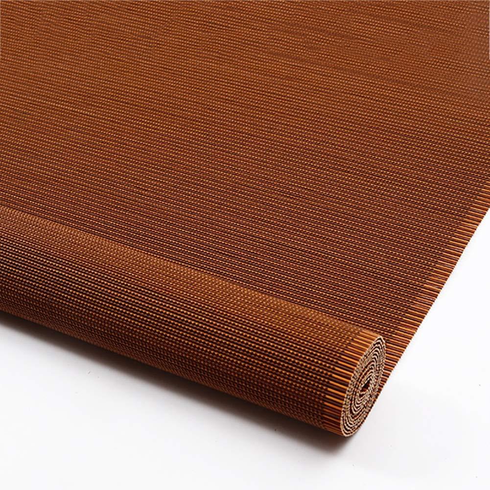 ブラインド ローラーブラインド竹、日よけルーバーのカーテンカットバックグラウンドウォールリビングルームベッドルームバルコニーサンバイザーサンバイザー、マルチサイズ、カスタマイズ可能 (色 : Flat curtain, サイズ さいず : 100x180cm) 100x180cm Flat curtain B07QBXM179