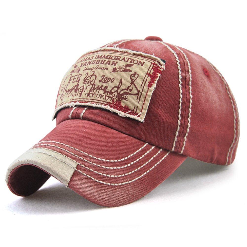 Bahamas Print Dad Hat Embroidered Adjustable Snapback Strapback Washed Cotton Baseball Cap Unisex (red)