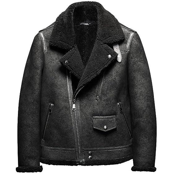 B3 Men's Shearling Leather Jacket Original Flying Jacket Men's Fur ...
