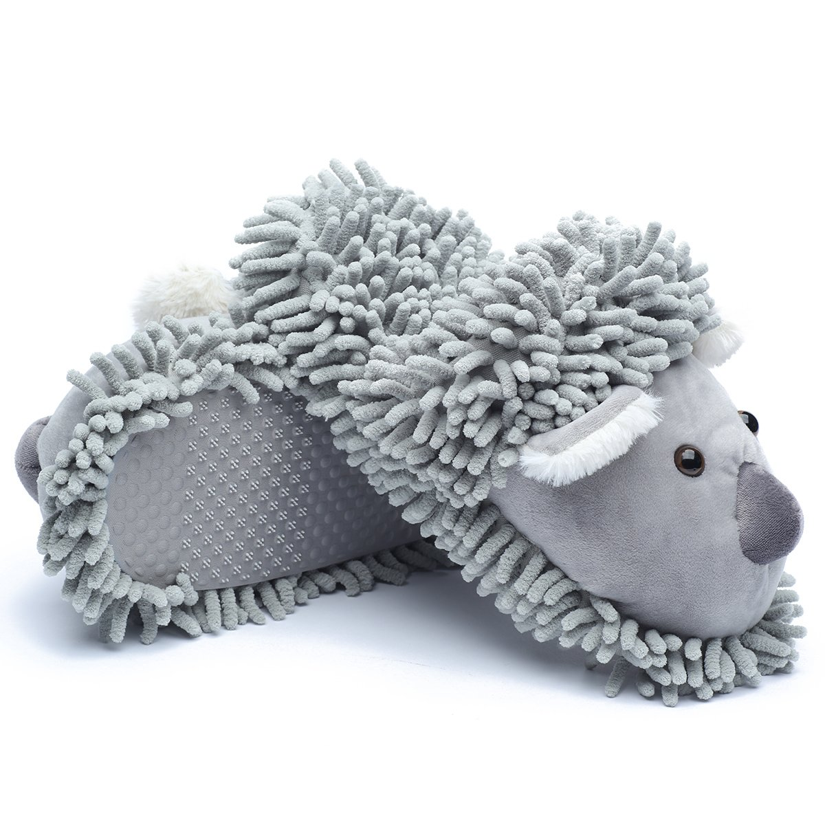 Ofoot Winter Warm Plush Anti-slip Indoor Animal Slippers for Women and Men (M/L 8-10 B(M) US, Grey(Koala)) by Ofoot (Image #8)