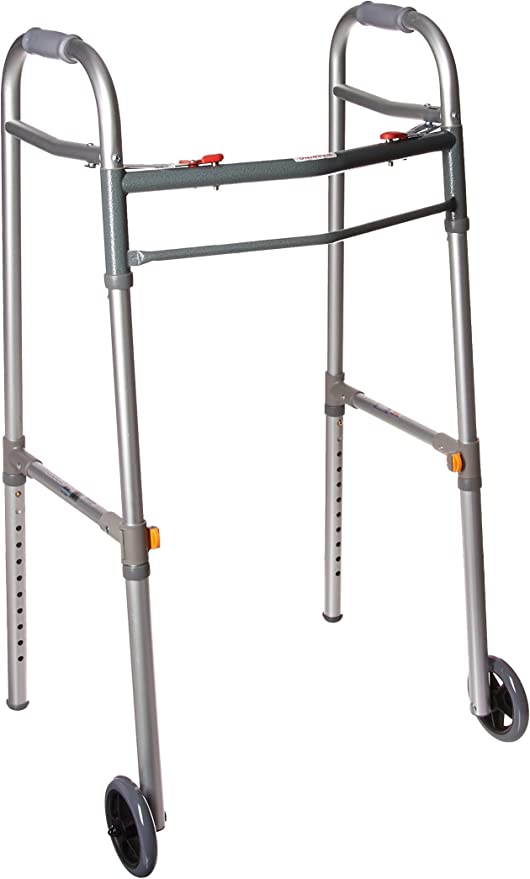 Drive Medical Two Button Folding Universal Walker with 5