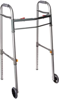Amazon com: Drive Medical Deluxe Two Button Folding Walker with 5