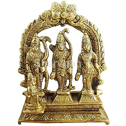Amazon com: Sharvgun Ram Darbar Statue/Idol - Lord Rama Laxman and