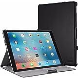 iPad Pro 12.9 Hülle, EasyAcc iPad Pro 12.9 2015 Hülle Schutzhülle Case Hochwertiges PU Leder Etui - mit Standfunktion und Automatischem Schlaf Funktion für iPad Pro 12.9 2015 (Modellnummer A1673 A1674 A1675) - Schwarz, Kunstleder