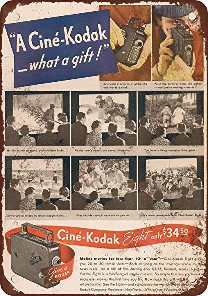 HALEY GAINES Cine-Kodak Placa Cartel Póster de Pared Metal ...