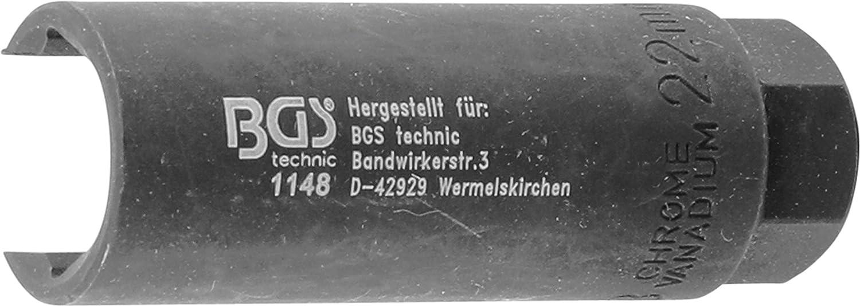 BGS Steckschlüssel Einsatz Nuss für Lambdasonde Werkzeug SW 22mm 1//2 150 mm lang