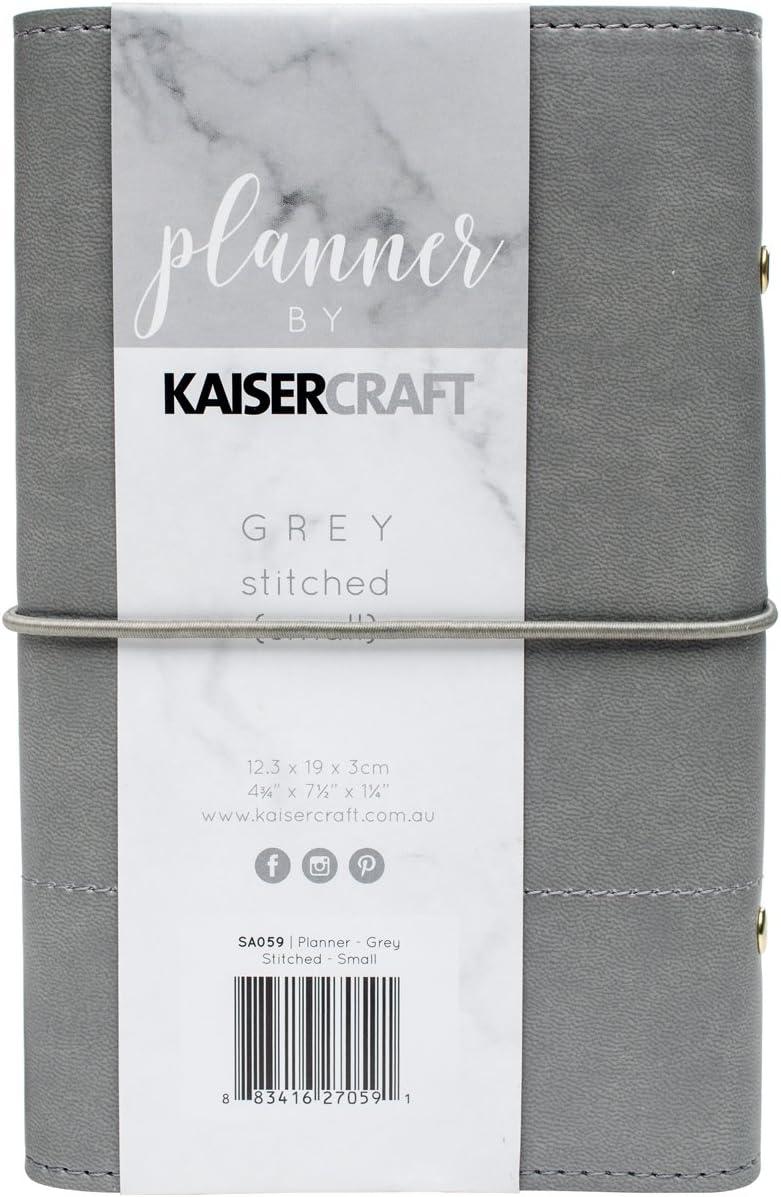 Kaisercraft Planner 12,7/x 17,8/cm W//Cousu Accents Gris