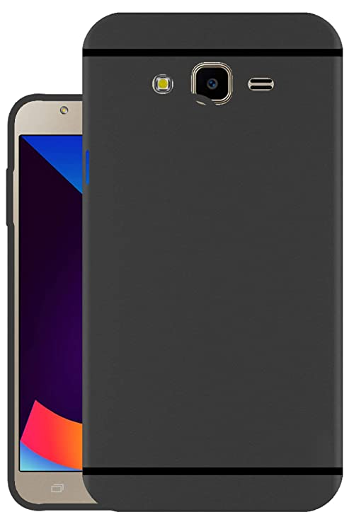 reputable site eece9 d159f Hello Zone Exclusive Matte Finish Soft Back Case Cover for Samsung Galaxy  J7 Nxt SM-J701 - Black