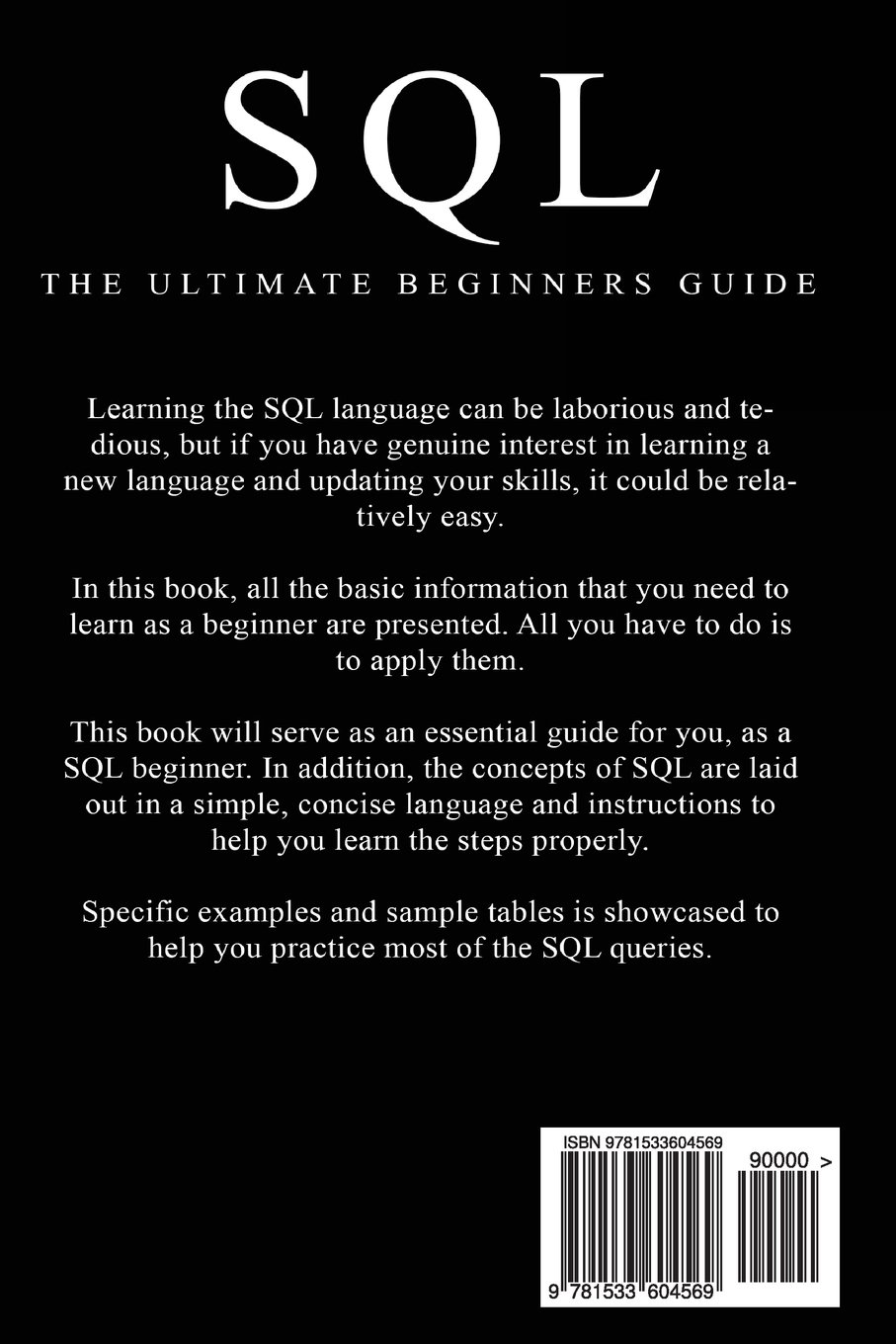 beginners guide to accessing the sql Odbc is a standard interface between a database (such as an sql database) and an application that accesses the data in the database having a standard enables any application front end to access any database back end by using sql in a client/server system, the interface between the client part and .