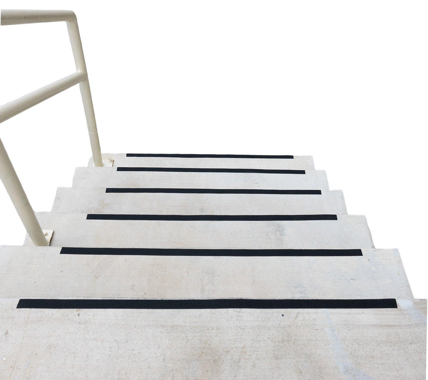 Black Anti Slip Safety Grit Non Slip Tape - Highest Traction 60' Feet Many Sizes (1 inch width)