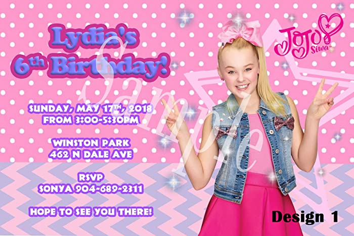 amazon com jojo siwa personalized birthday invitations more designs