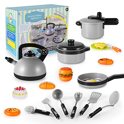 Amazon Com Pretend Play Kitchen Set For Kids Kids Pretend Cooking
