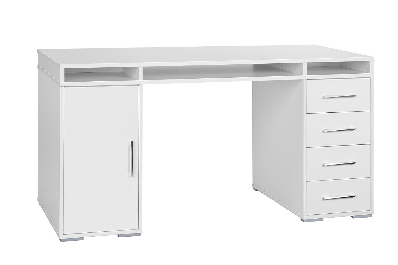 MAJA-Möbel 1670 5535 Schreib- und Computertisch, weiß uni ...