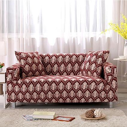 Yazi país rústico lavable alta elástico funda sofá elástica ...