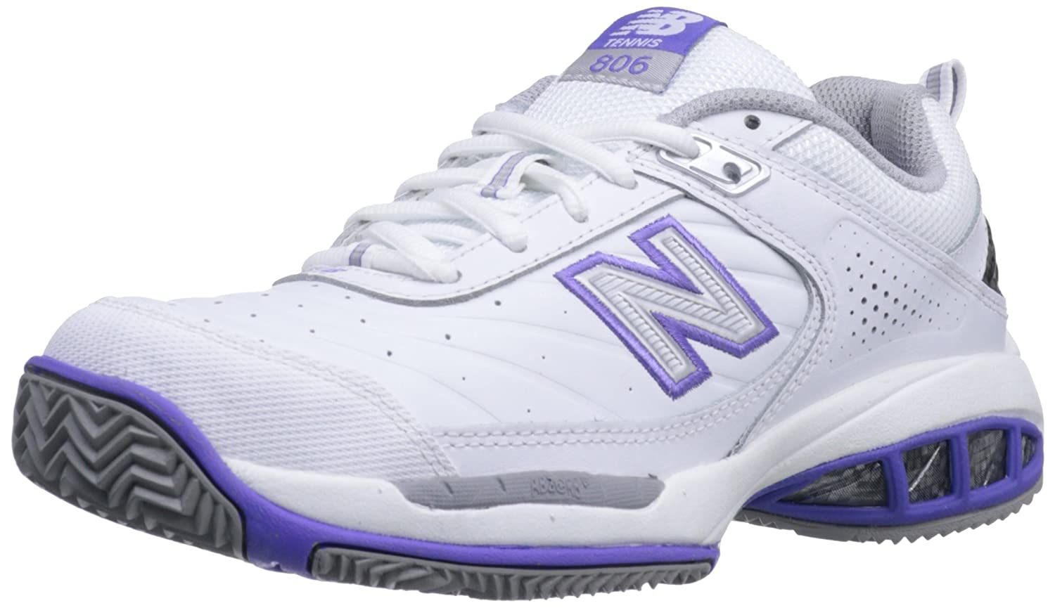 New Balance Women's WC806 Tennis-W Tennis Shoe B0098G2KBY 7.5 B(M) US|White