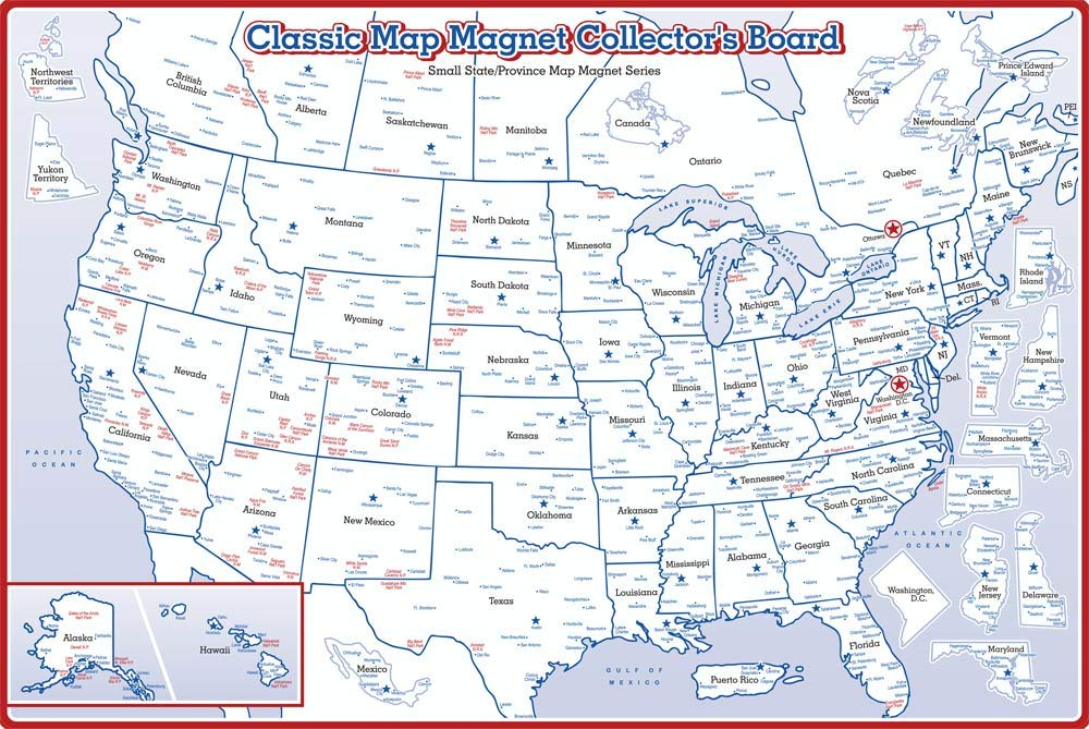 Small State Magnet Collector's Metal Board (Board Only) by Classic Magnets
