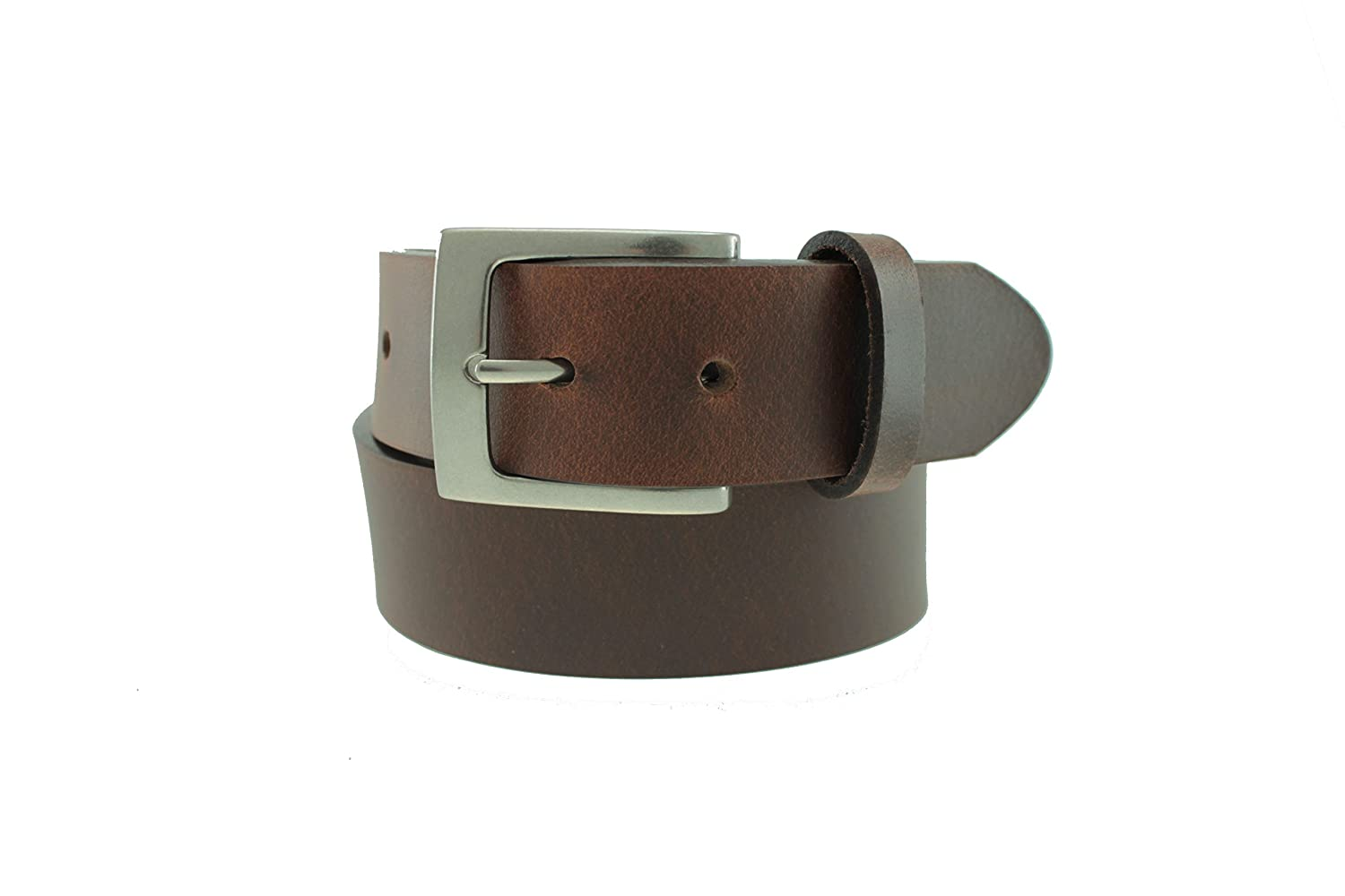 Nickel Buckle USA Made Liberty Leather Belt by Thomas Bates Elements
