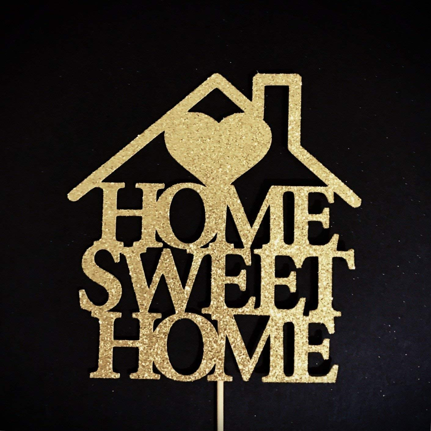 Home Sweet Home Cake Topper, New Home Party, Housewarming Cake Topper, New Home Party Decoration