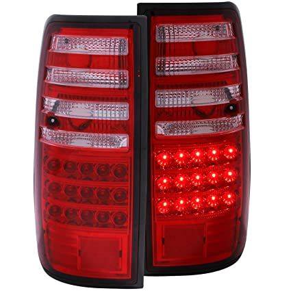 Amazon.com: Anzo USA 311095 Toyota Land Cruiser Red/Clear LED Tail Light Assembly - (Sold in Pairs): Automotive