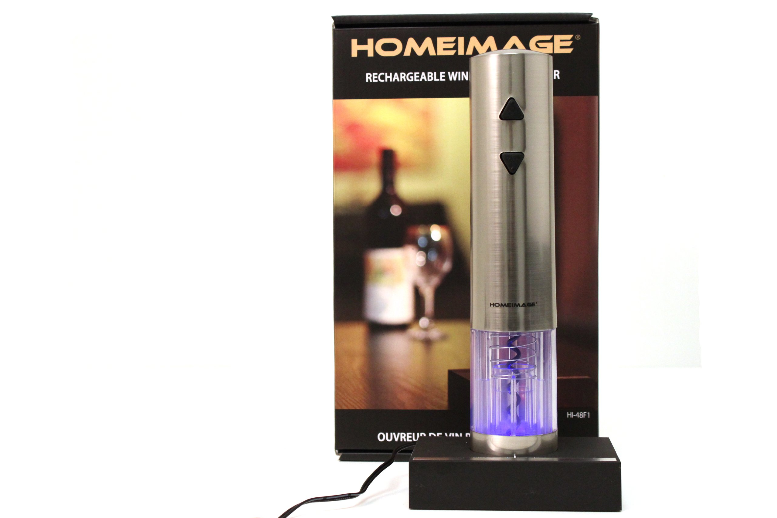 HOMEIMAGE Stainless steel Electric Wine Bottle Opener HI- 48F1 by HOMEIMAGE