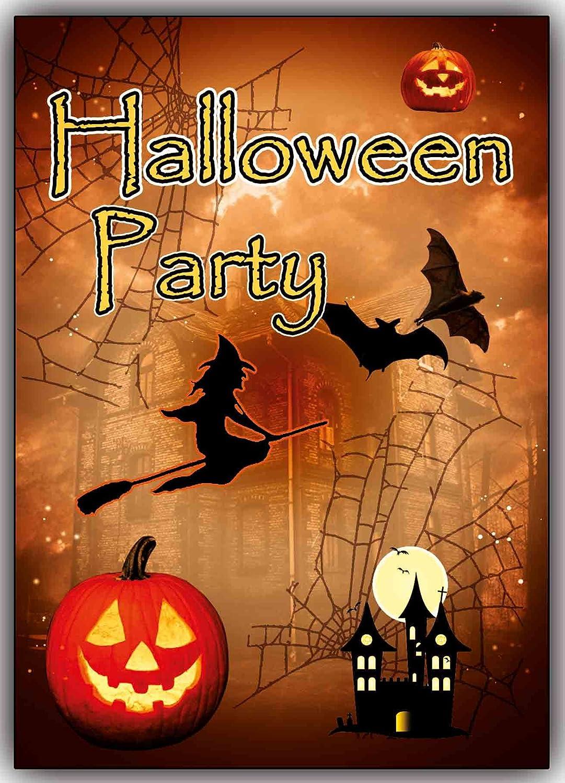Einladungskarten Motiv: Halloween Grusel Party Horror Party Im Set Z.B.  Kinder Geburtstag (10 Stück): Amazon.de: Bürobedarf U0026 Schreibwaren