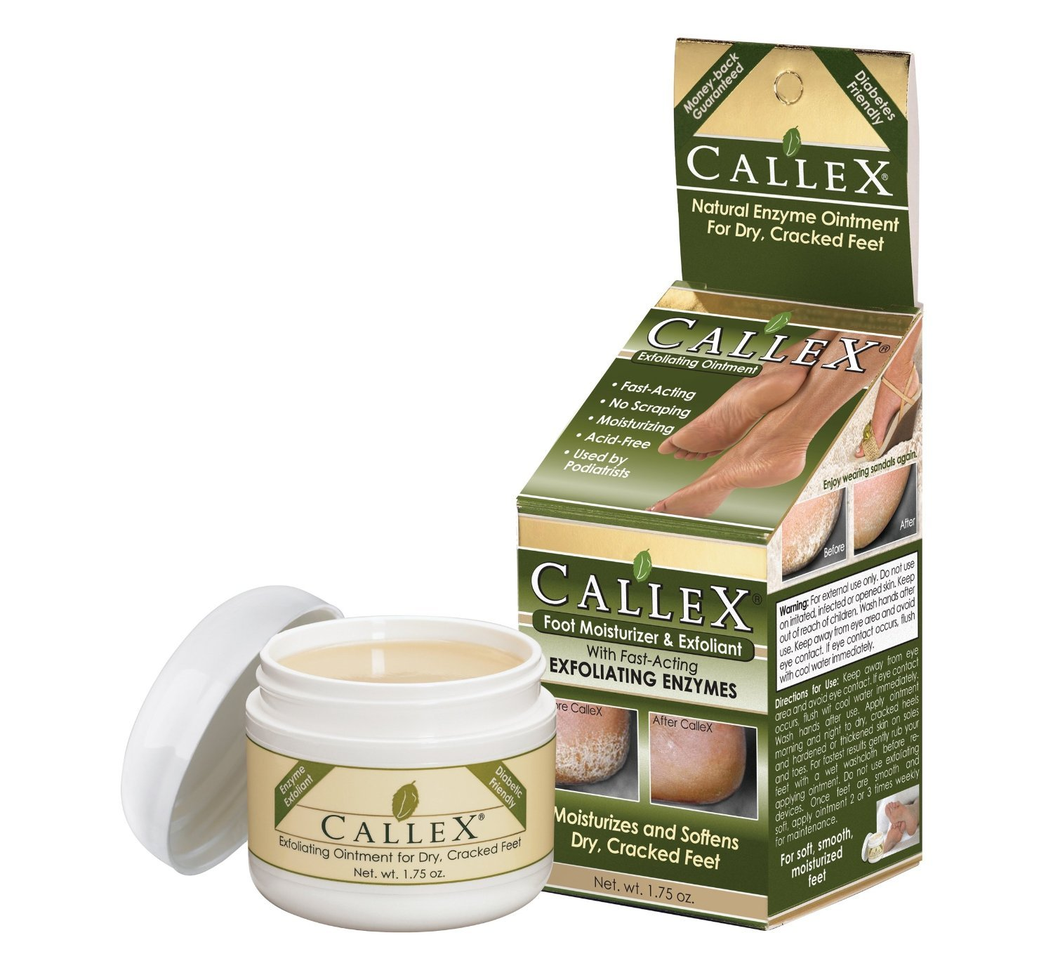 Xenna Callex, Callus Ointment Exfoliates and Moisturizes Dry Cracked Feet, 1.75 oz (Pack of 2)