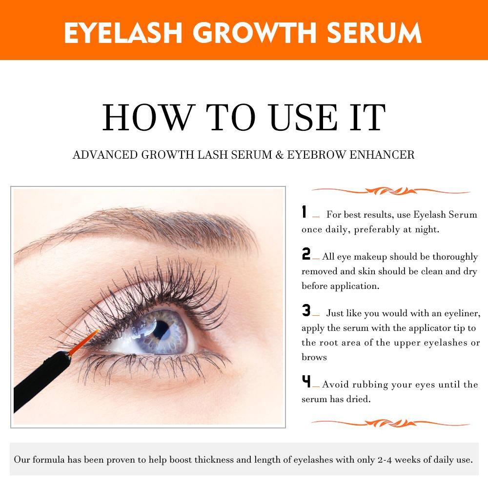 Amazon Natural Eyelash Growth Serum By Melao Natural Clear